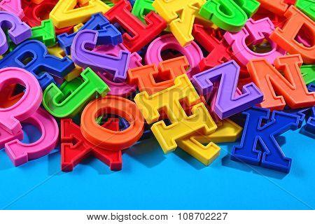 Colorful Plastic Alphabet Letters