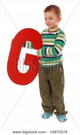 "Letter ""g"" Boy"