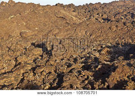 Volcanic Stones In National Park Timanfaya