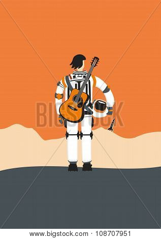 Poster With An Austronaut