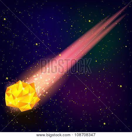 Falling Orange Meteor