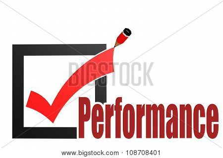 Check Mark With Performance Word