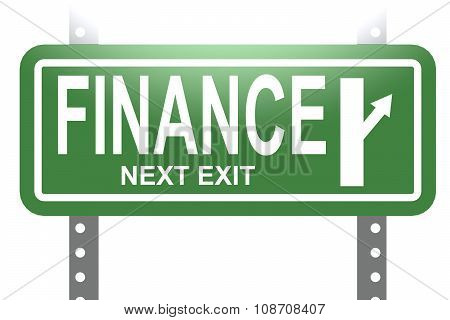 Finance Green Sign Board Isolated