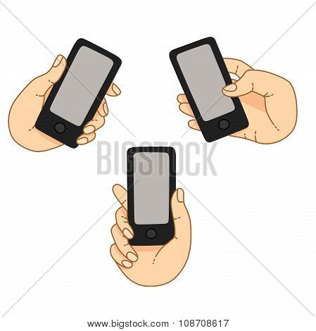 Demonstration Display Of A Mobile Phone