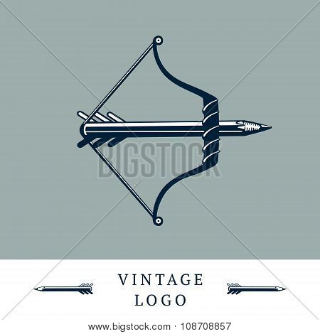 Vintage logo with a bow