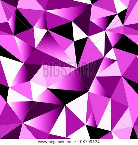 Abstract Rose Gradient Geometric Rumpled Triangular Seamless Low Poly Style Background