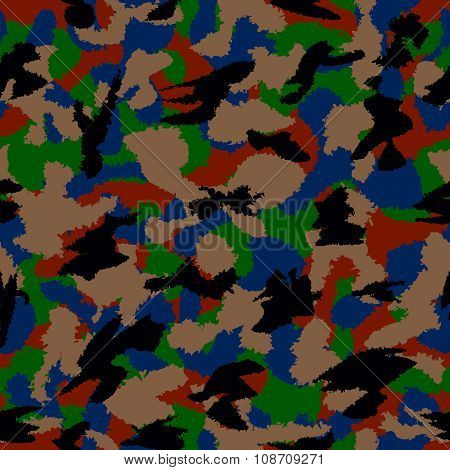 Urban Dark Mixed Camouflage Seamless Pattern. Can Be Used For Wallpaper, Pattern Fills, Web Page Bac