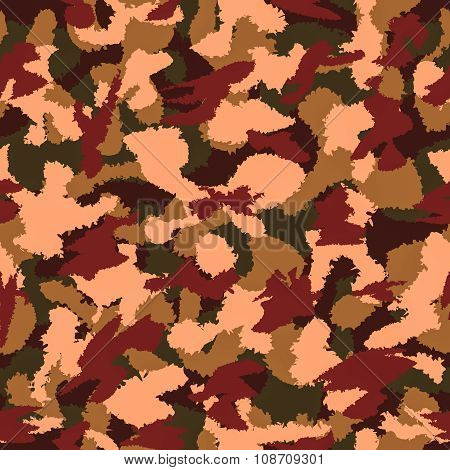 Autumn Mixed Camouflage Seamless Pattern. Can Be Used For Wallpaper, Pattern Fills, Web Page Backgro
