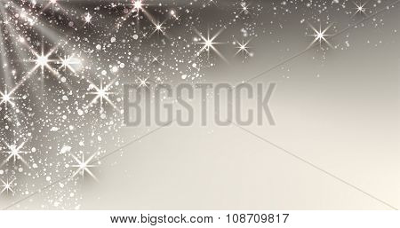 Festive luminous background. Vector paper illustration.