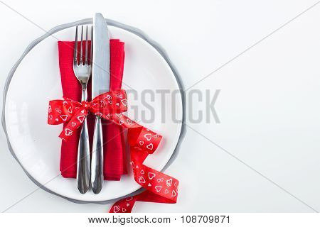 Romantic Table Setting For Valentine Day