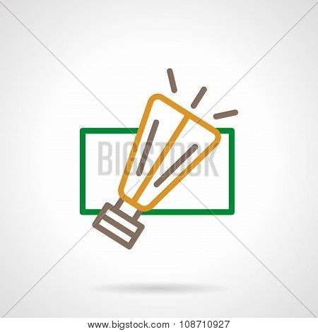 Abstract color line garland light vector icon