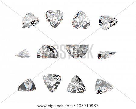 Gemstone on a white background