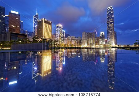 Hong Kong night view of skyline