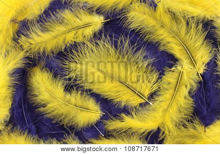Background - small blue, yellow plumes situated irregularly