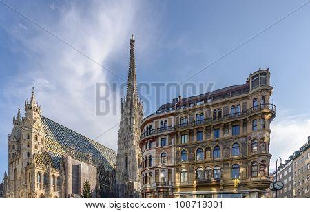 Saint Stephen's Cathedral at Christmas, Vienna, Austria