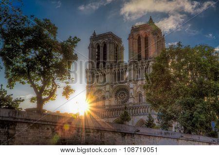 Sunrise Over Notre Dame