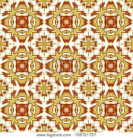 Italian traditional ornament, Mediterranean seamless pattern, tile design, vector illustration.