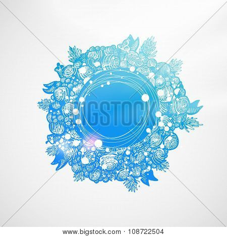Sky blue Xmas wreath