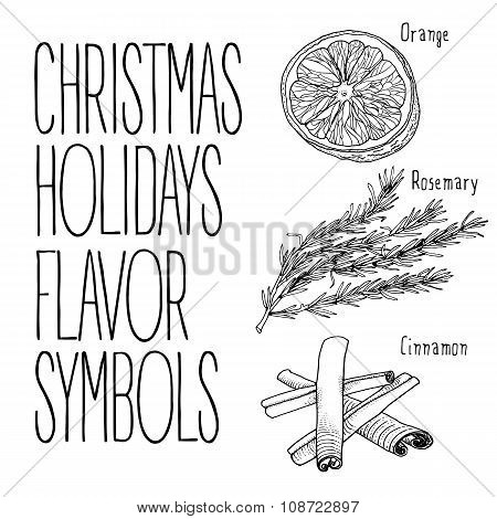 Christmas flavors illustration