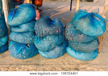 Fishing Nets In The Bundle Of Blue