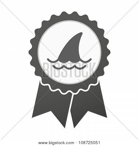Vector Badge Icon With A Shark Fin