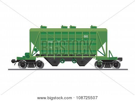 Rail wagon for construction materials
