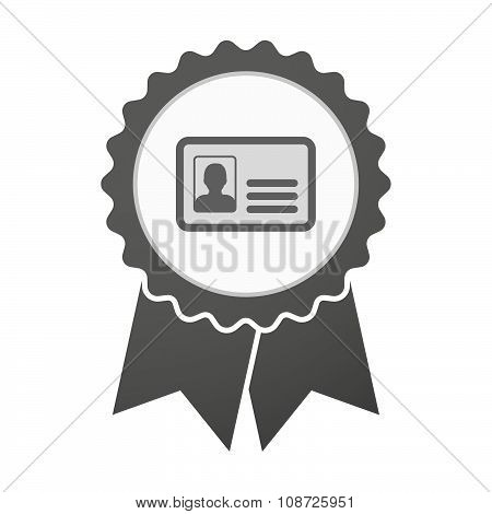 Vector Badge Icon With An Id Card