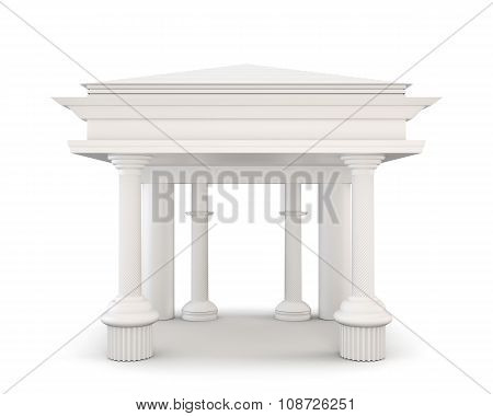 Classical Entrance With Columns. 3D.