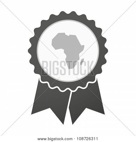 Vector Badge Icon With  A Map Of The African Continent