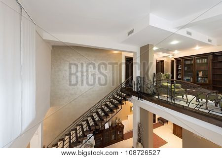 Stairs In Modern Luxury Multilevel Apartment