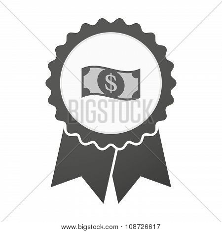 Vector Badge Icon With A Dollar Bank Note