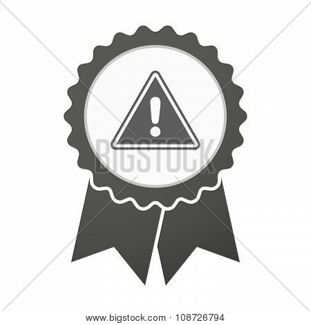 Vector Badge Icon With A Warning Signal