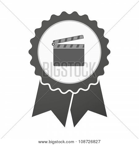 Vector Badge Icon With A Clapperboard