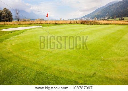 Vibrant Golf Green