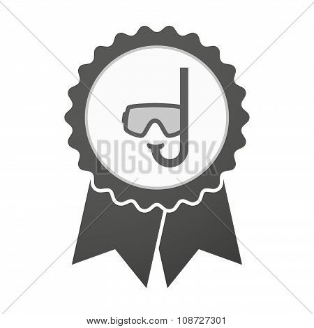 Vector Badge Icon With A Diving Goggles