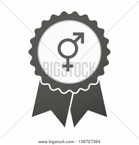Vector Badge Icon With A Transgender Symbol