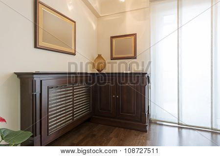 Wooden Radiator Mask In Luxury Apartment