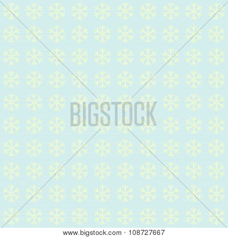 Blue Snowflakes Background  Pattern. Winter Theme.