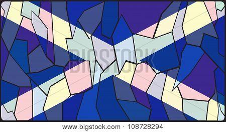 Scotland Flag Stained Glass Window