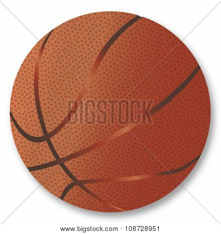 Basketball Over White Background