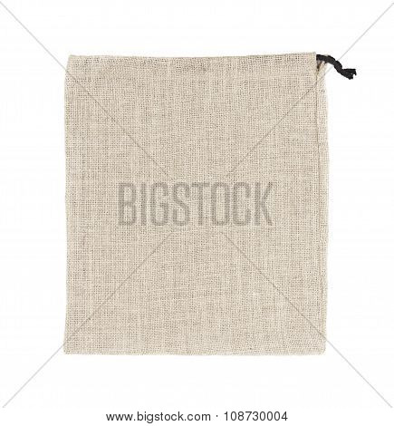 Sackcloth Bags Isolated On White Background.