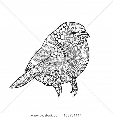Zentangle stylized bird