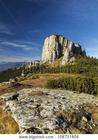 Mountain View Of Ocolasul Mare.ceahlau Mountain In Romania