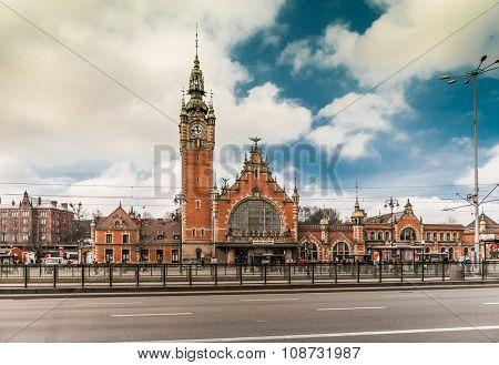 GDANSK, POLAND - MARCH, 20: Main station of Gdansk in Poland - Gdansk Glowny on March, 20, 2015