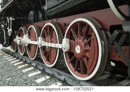 Wheels Of Retro Train