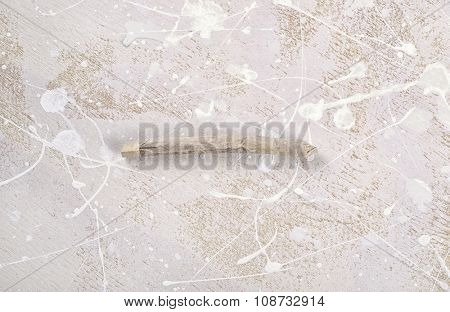 Medical marijuana joint over abstract background