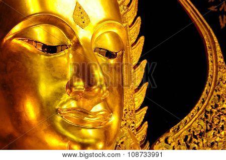 Beautiful golden Buddha statue