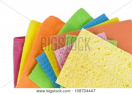 Group of kitchen sponges