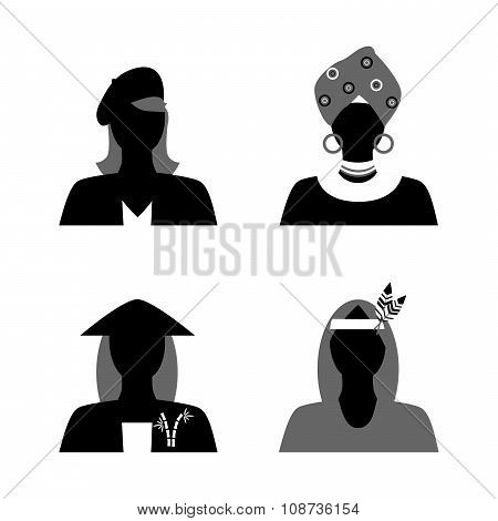 Womans And Nationality Black