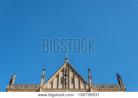 Roof of St.Barbara Church in Kutna Hora